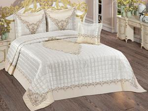 Dowries Quilted Bedspread Monaco Cream