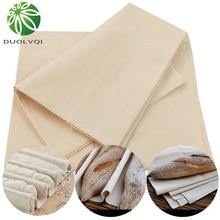 Duolvqi tapis de cuisson en tissu de lin   Fermenté, ustensiles de cuisson, test du pain Baguette tissu de lin, tapis de cuisson, outils de cuisine de pâtisserie