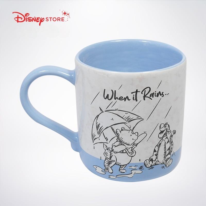 Disney Fashion Cartoon Mug Cute Milk Breakfast Cup Winnie The Pooh Cup Ceramic Creative Water Cup enlarge