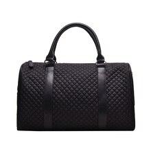 Grand noir Ling, sac à main marque de haute qualité solide Lisure ou sac de voyage pour les femmes unisexe grande capacité sac de nuit