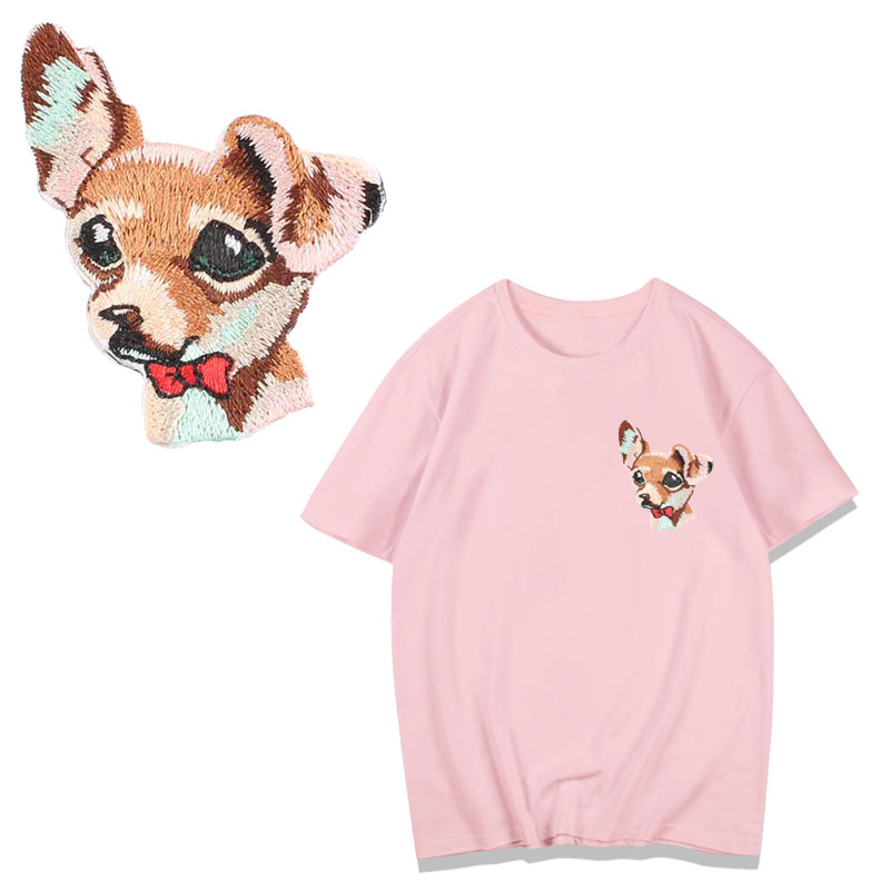 Parches de transferencia de calor de dinosaurio y perro de abeja para parche para ropa A rayas, plancha lavable A nivel, apliques, adhesivo para ropa DIY