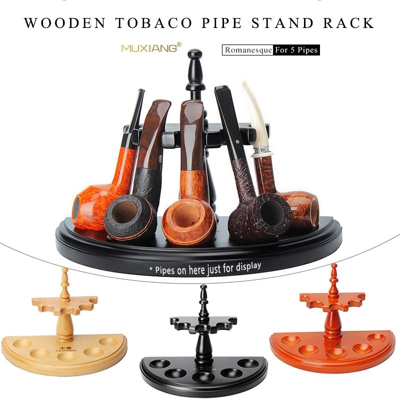حامل أنابيب خشبي 2/3/5 ، رف لأدوات التدخين ، خط مستقيم ، نمط روماني ، المزيد من الأنماط ، 3 ألوان متينة