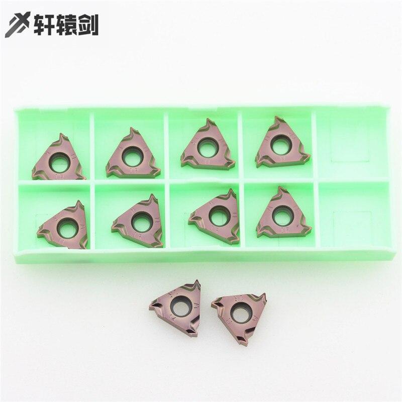10 pces 16irh 11w 14 xm9030 inserção de rosca de aço inoxidável cnc