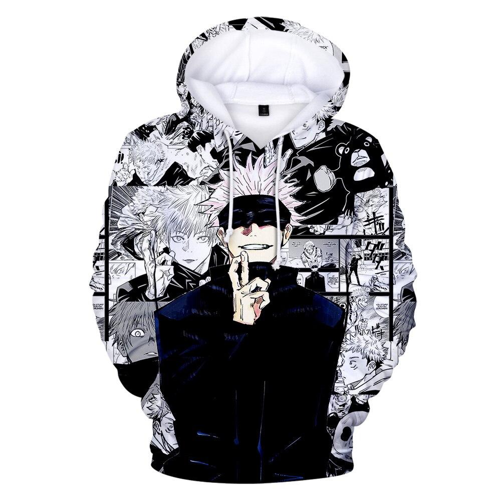 Anime Jujutsu Kaisen Hoodies 3D Print Men/Womens streetwear sweatshirt Oversized boy Hoodie Harajuku Hip Hop Pullover mens Coats