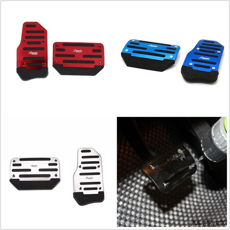 Универсальные нескользящие накладки на педали из алюминиевого сплава, 2 шт.