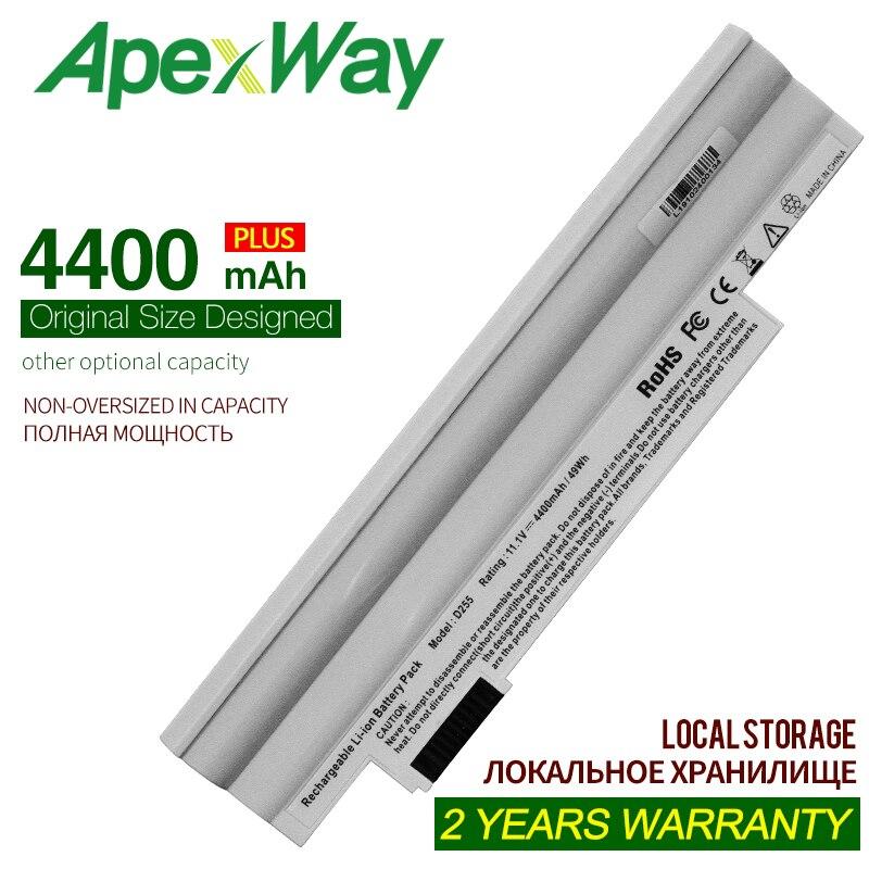 Apexway белый ноутбук Батарея для para acer Aspire uno D255 D257 D260...