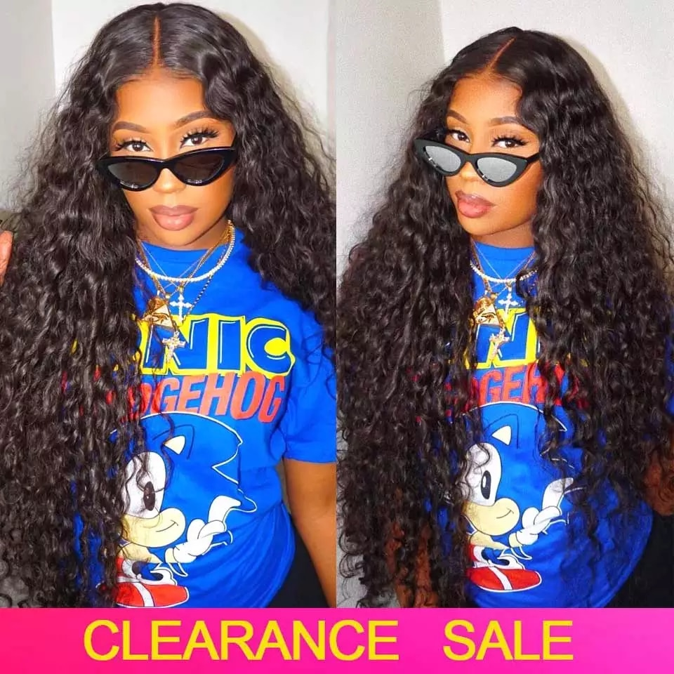 Water Wave Wig 13x6 HD Lace Frontal Wig Pre Plucked Peruvian Wigs 4x4 5x5 6x6 Lace Wig Human Hair Wigs For Women Free Shipping