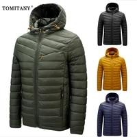 2021 new parkas jacket men hooded solid color jacket men fashion high quality autumn winter parka coat jacket warm male jackets