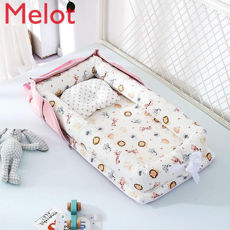 سرير أطفال قابل للطي متعدد الوظائف سرير صغير محمول سرير لحديثي الولادة في سرير نوم الطفل سرير بيونيك BB سرير عالي الجودة متين
