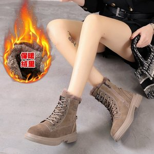 Snow Boots Woman Winter Boots Winter High-top Lace Up Women's Shoes Ladies Platform Booties  Ankle Boots