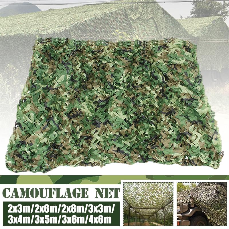 2x6m/2x8m//3x4m/3x5m/3x6m/4x6m Jungle Camouflage Nets Woodland Army training Camo netting Camping Sun Shelter
