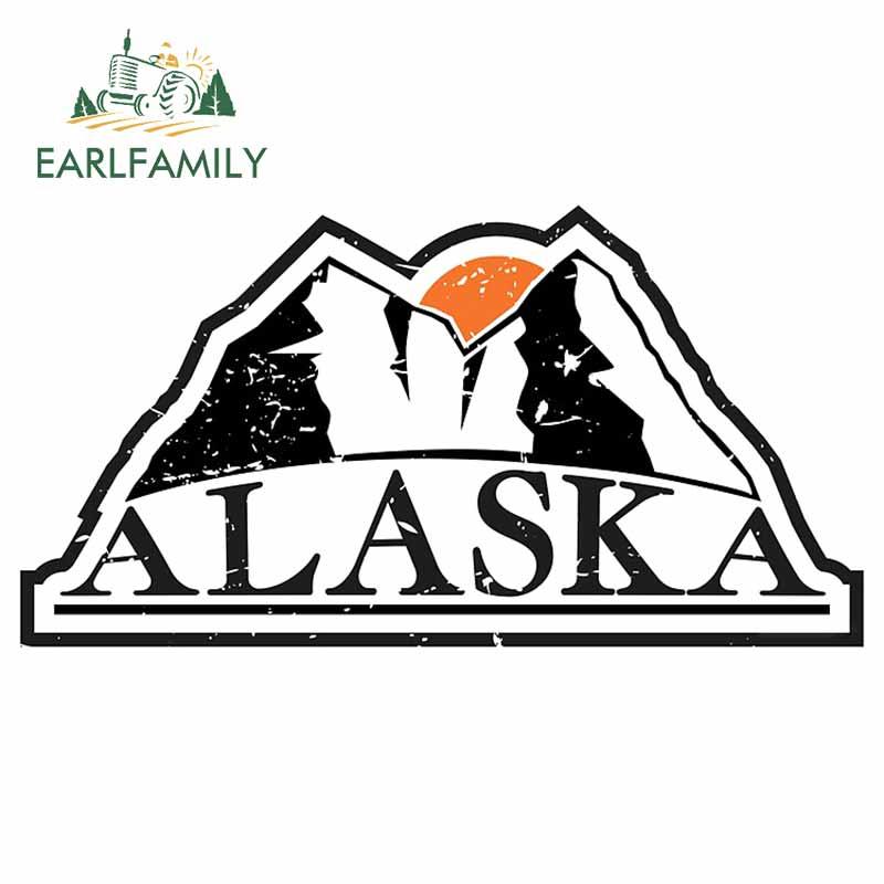 EARLFAMILY 13cm x 6,9 cm para Alaska montañas Graffiti pegatina de coche...