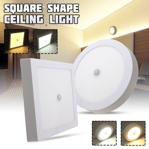 24W 120LED Ceiling Light Light Control + Human Body Induction LED Panel Lights Ceiling Recessed Indoor Lights 2835smd AC85-265V