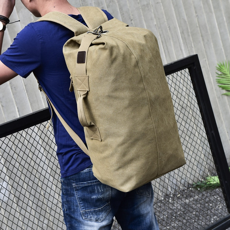 Parcel Post Large Capacity Travel Backpack Men's  Outdoor  Sports Bag Tidal Current Canvas