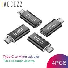 ! ACCEZZ type-c na Micro USB Adapter do Huawei Samsung LG Xiaomi Redmi 4X uwaga 5 OTG USB Android telefon konwerter Micro Usb męski