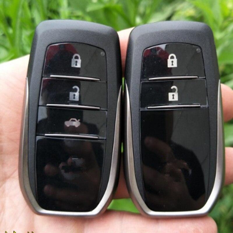 DAKATU 2/3 кнопочный умный дистанционный ключ оболочка для Toyota RAV4 Camry Reiz Highlander смарт-карта оболочка с неограненным лезвием