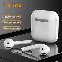Tws-стереонаушники I12 с поддержкой Bluetooth 5,0 и зарядным футляром