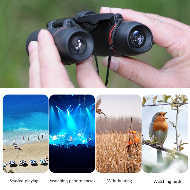 Zoom Telescope 30x60 Folding Binoculars with Low Light Night Vision for outdoor bird watching travelling hunting camping 1000m enlarge