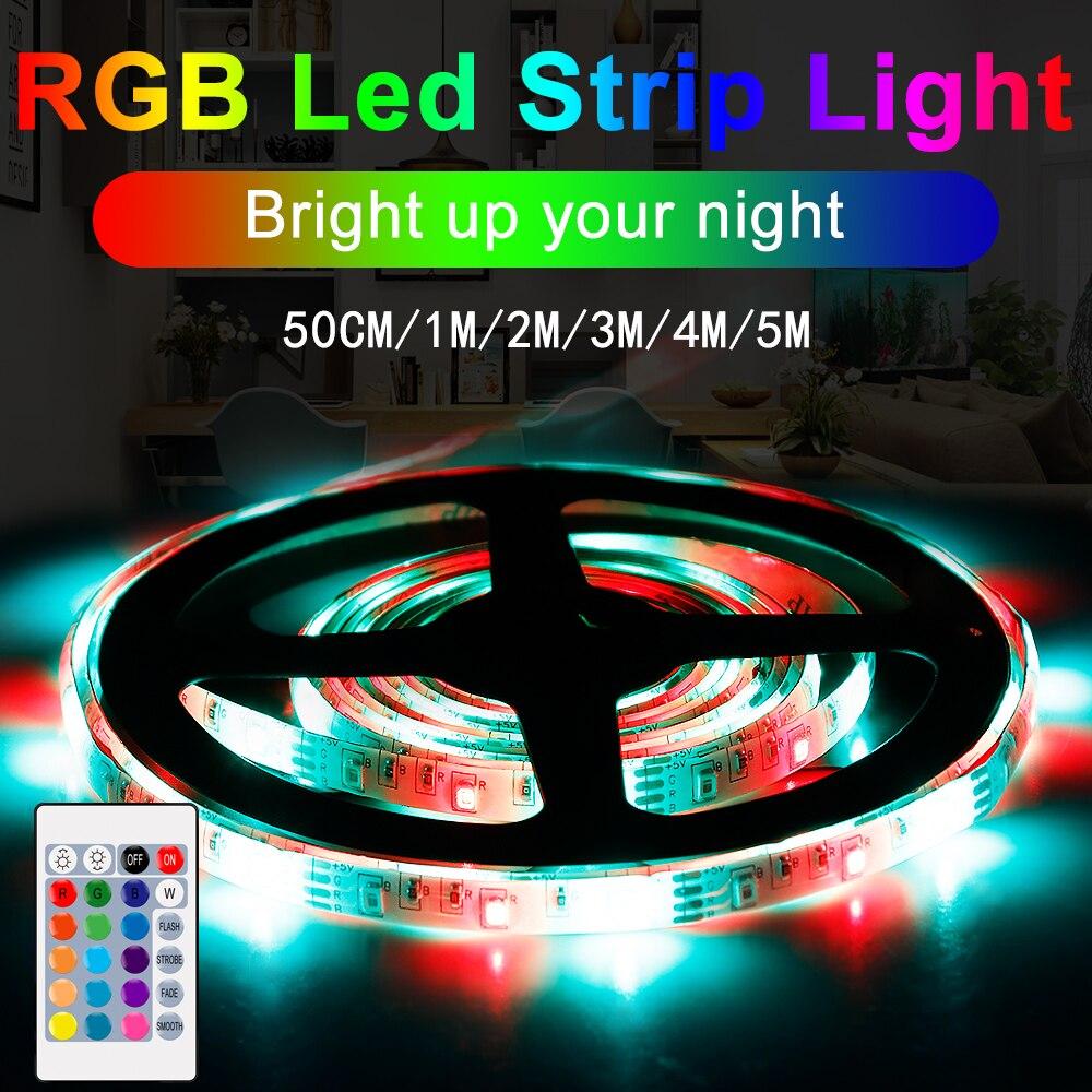 RGBW LED Strip Flexible Light Tape USB Lamp Waterproof TV rgb Backlight Lighting Ribbon Wireless DC 5V