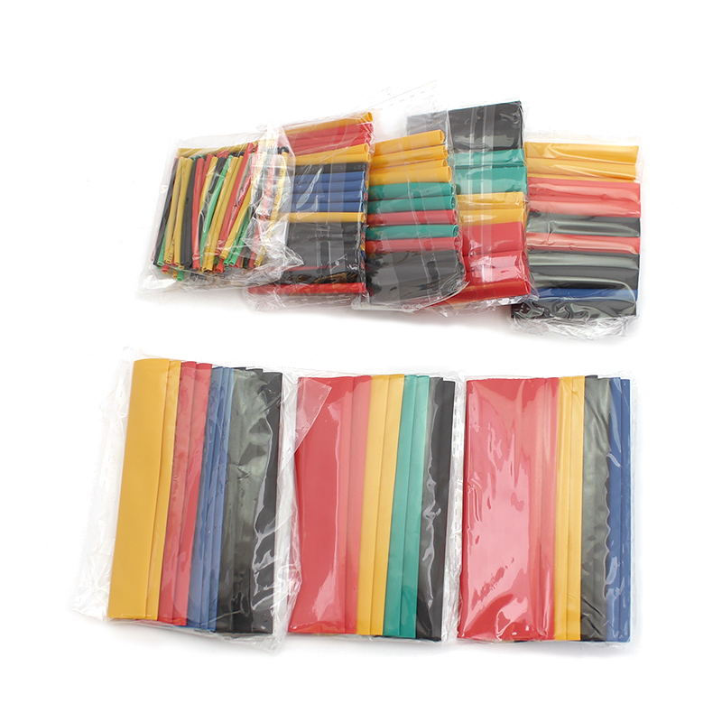 164pcs 2:1 Heat Shrink Tubing Polyethylene insulating sleeve Wire Cable protective sleeve for DIY 8 Sizes 5 Colors