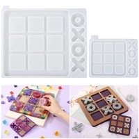 large tic tac toe resin mold silicone epoxy resin casting moulds for diy x o tabletop board travel game polymer clay craft molds