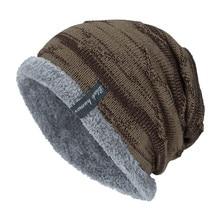 Unisex Knitted Warm Cap For Men Hedging Head Hat Beanie Cap Warm Winter Outdoor Hat Bonnet Homme Hiver NEW 91217