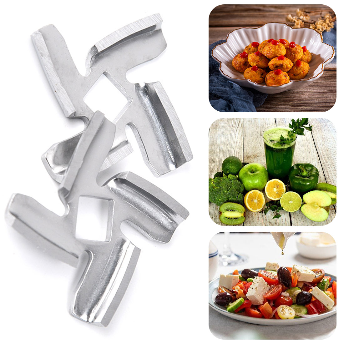 1pc 50mm diameter stainless steel meat grinder blade for Mullins HV6 type 133 household kitchen tool accessories