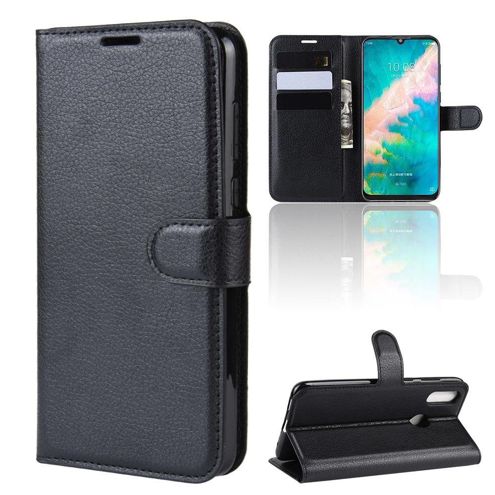 Funda de teléfono para ZTE Blade V10 Vita Flip PU Funda trasera de cuero de silicona para ZTE Blade V10 cartera bolsos para teléfonos inteligentes Funda