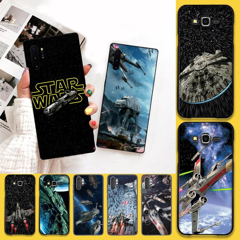 Star Wars Spaceship Black Soft Shell Phone Case Capa For Samsung Note 7 8 9 10 pro Galaxy J7 J8 J6 Plus 2018 Prime