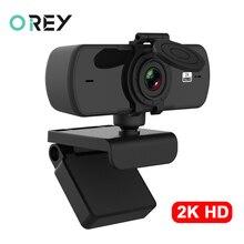 Webcam 2K Full HD 1080P caméra Web Autofocus avec Microphone caméra Web USB pour ordinateur portable Mac ordinateur de bureau YouTube Webcamera appareil photo