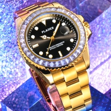 Gold Luxury Watch AAA Sapphire Glass Luminous Sports Classic Quartz Wristwatch Men Clock Stainless S