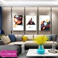 Toile de decoration de noel  affiches de peinture  lumieres de ville geometriques abstraites  Art mural  decoration de salle  decoration de maison