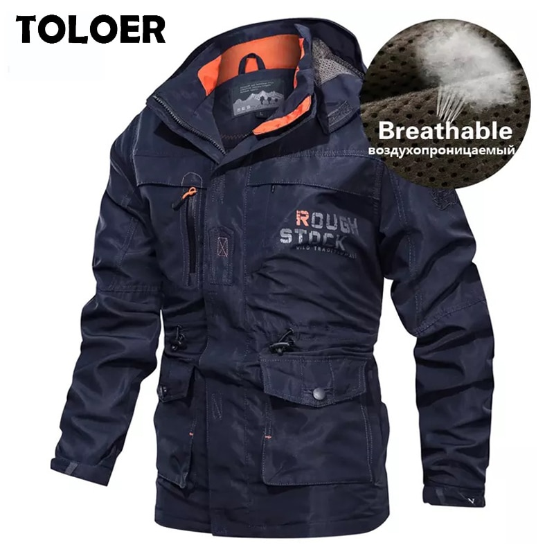 Breathable Bomber Jacket Men 2020 Spring Autumn Multi-pocket Military tactical Jackets Windbreaker Mens Coat Outdoor Stormwear