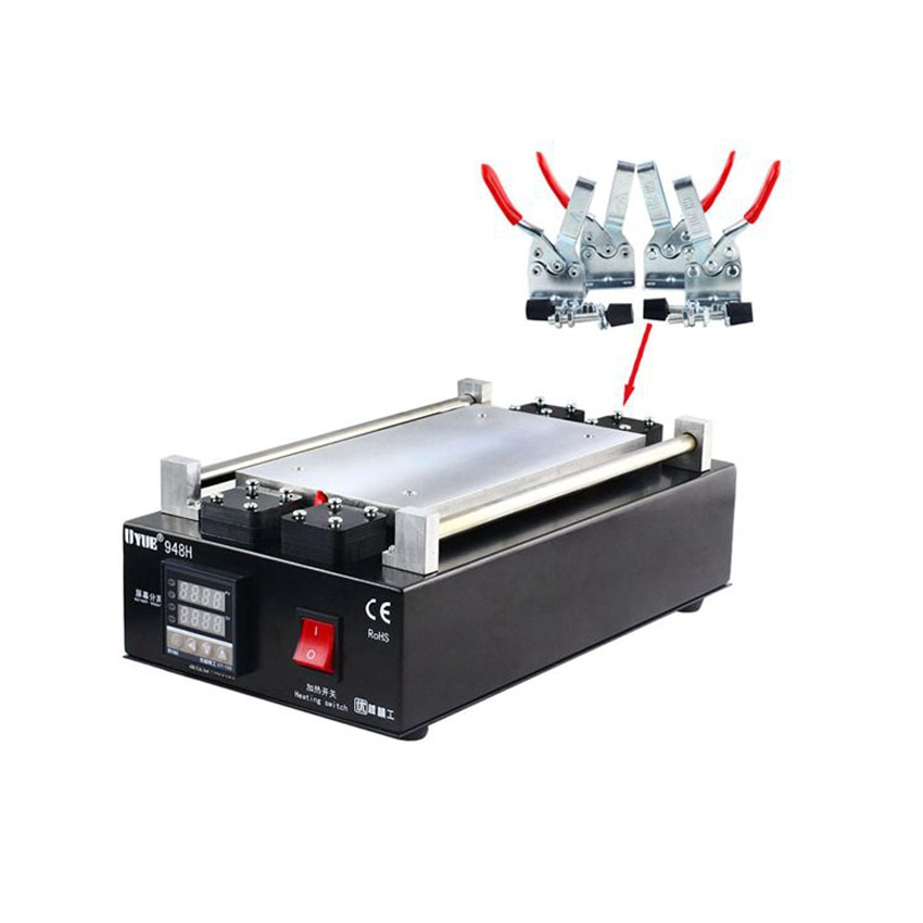 2PCS 948H LCD High Temperature Touch Screen Separator Machine For Phone iPhone Samsung Screen Glass Repair Removal Split Machine enlarge