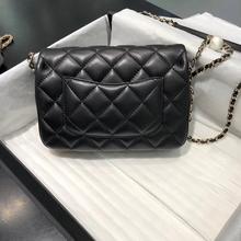 luxury designer women flap pearl chain shoulder bag lady handbag purse crossbody bag import leather