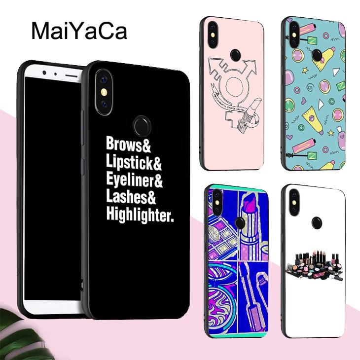 MaiYaCa Косметика Тушь для ресниц макияж кисти чехол для Xiaomi Redmi Note 8 9 K30 Pro 7 8T 9S 7A 8A Mi A3 10 9 Lite 9T Max3 Mix3