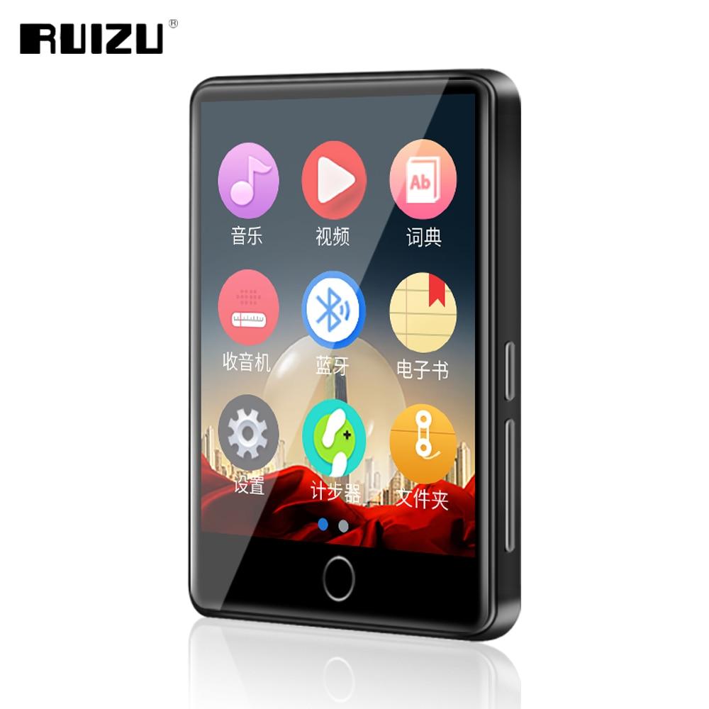 RUIZU M7 MP3 MP4 لاعب 2.8 بوصة شاشة تعمل باللمس بلوتوث 5.0 المدمج في المتكلم مشغل موسيقى مع راديو FM تسجيل الفيديو الكتاب الإلكتروني