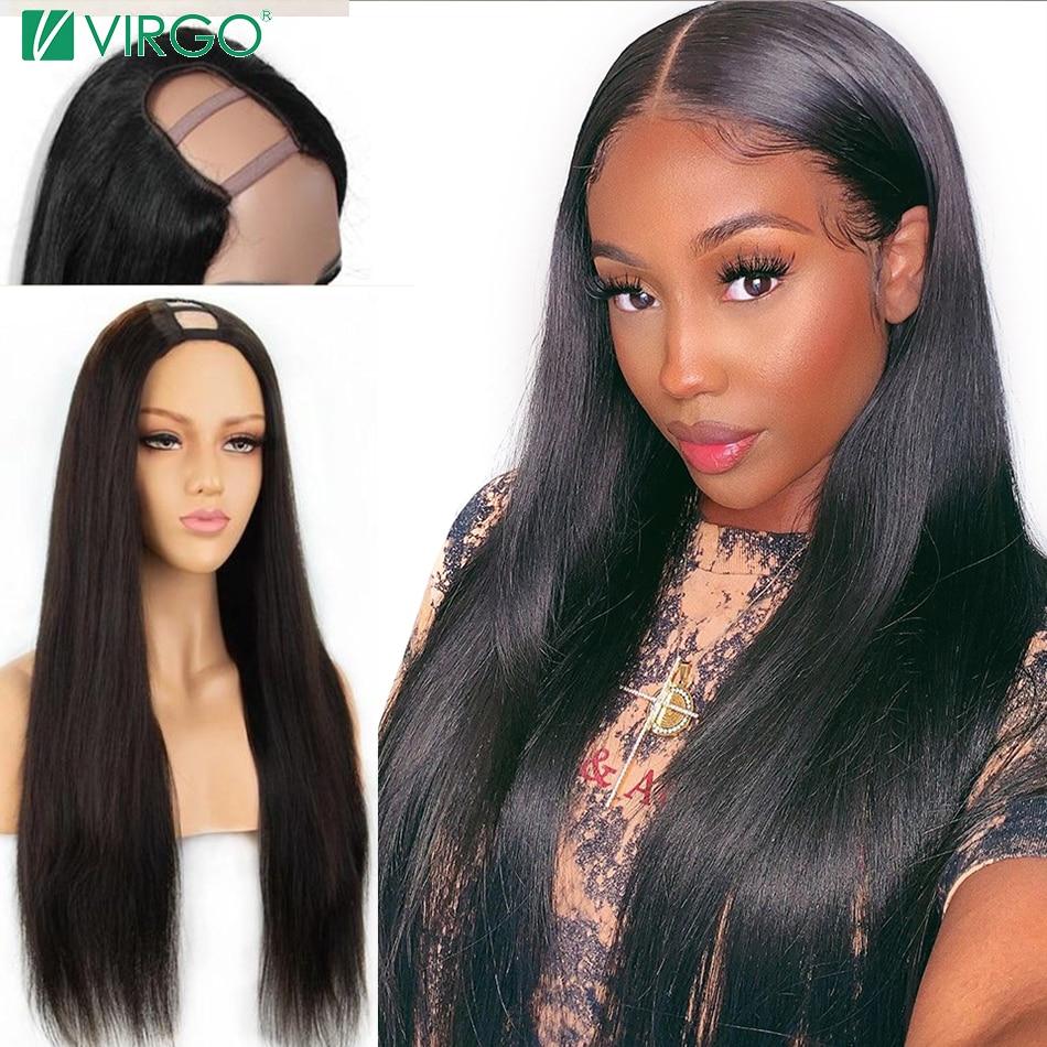 U część peruka prosto koronkowa peruka na przód ludzki włos wstępnie oskubane z dzieckiem włosy 150 brazylijska peruka Remy koronkowa peruka dla kobiet Virgo