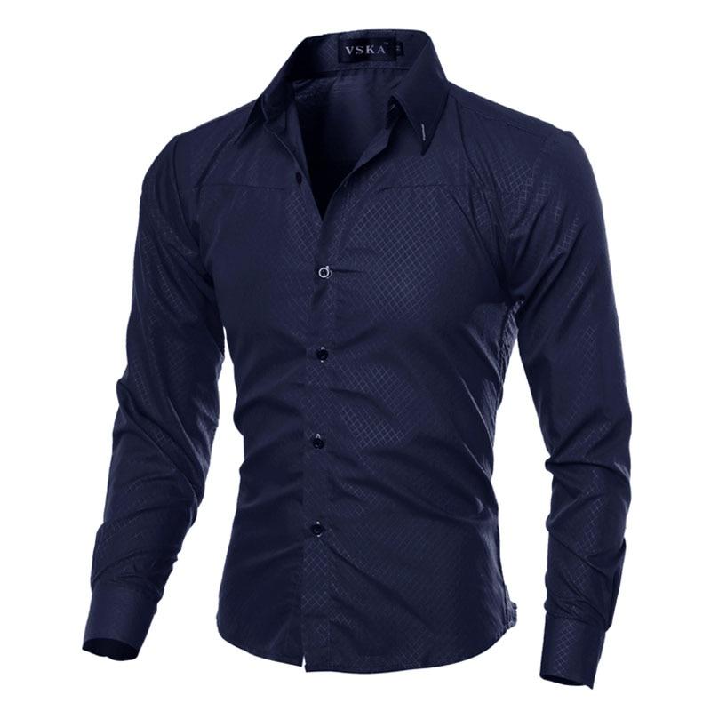 2021 модные брендовые мужские рубашки из хлопка, приталенные мужские рубашки, повседневные деловые рубашки размера плюс 5XL, мужская одежда
