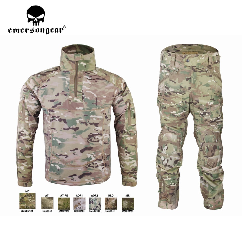 Emersongear Mens Tactical Suit Sportwear Military Combat Tracksuit Fall Winter Long Sleeved Shirts Pants Camouflage