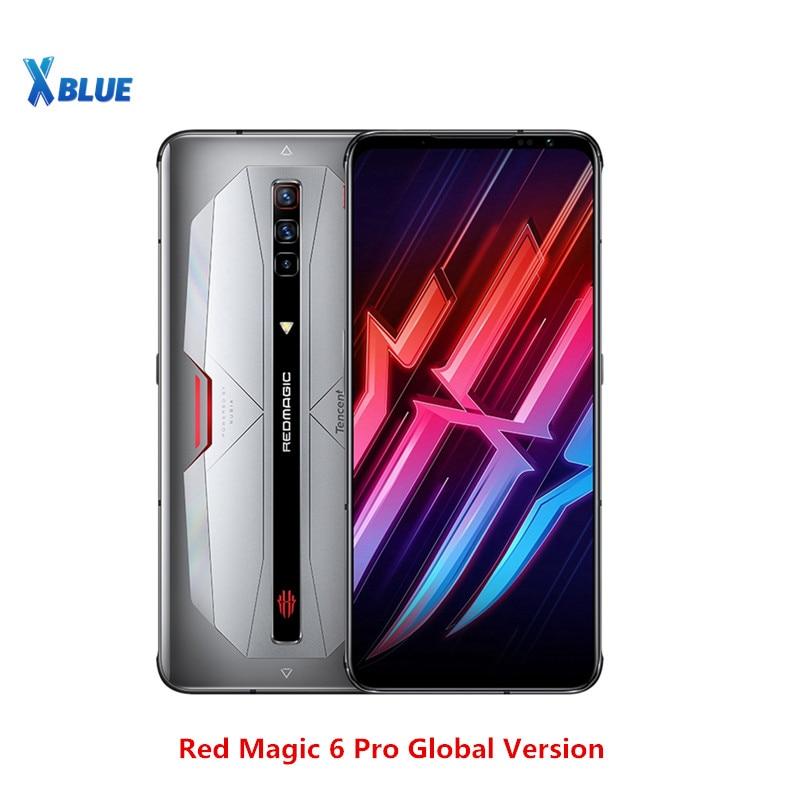 Глобальная версия Nubia красный Магия 6 Pro 5G мобильного телефона 6,8 дюйма 16 Гб Оперативная память 256GB Snapdragon 888 Android 11 Игровой чехол для телефона