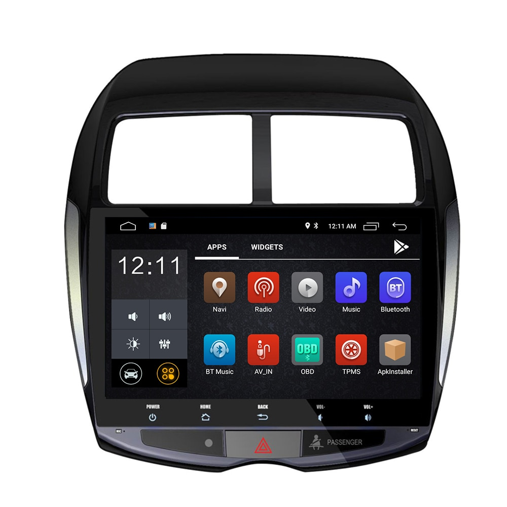 """Android 10 8 CORE Radio de coche reproductor Multimedia 2 din dvd GPS para Mitsubishi ASX 2010-2017 navegación UNIDAD DE Stereo10.2 """"RDS"""