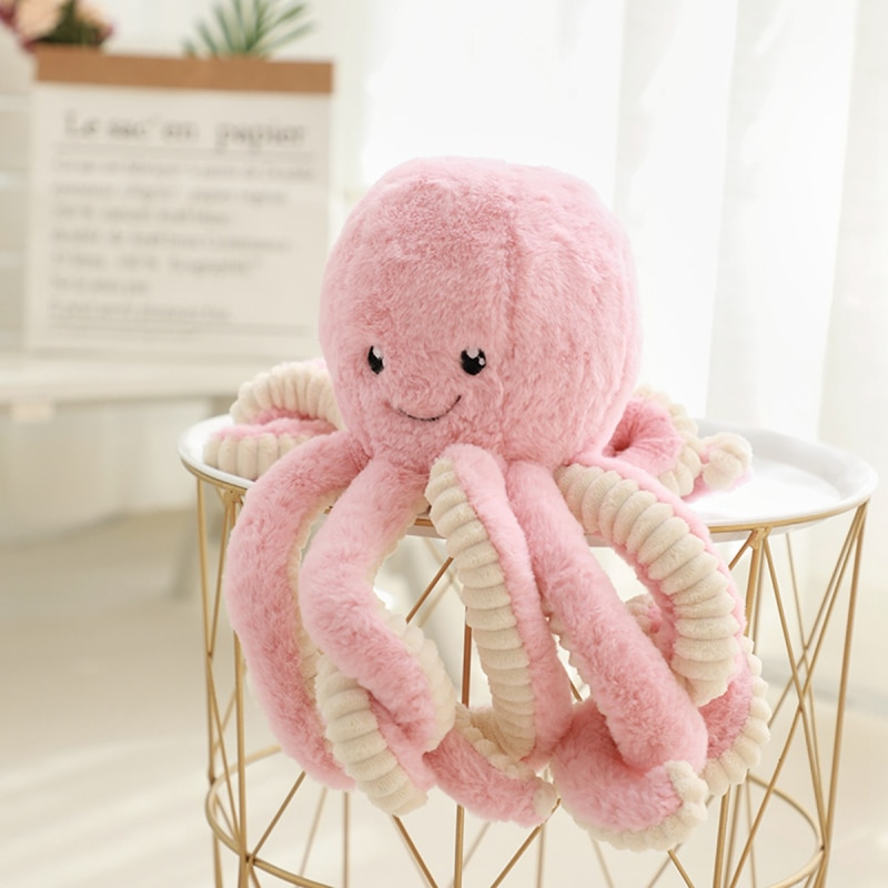 Kawaii polvo brinquedo de pelúcia animal dos desenhos animados macio polvo boneca travesseiro brinquedo de pelúcia crianças decoração presente aniversário w0115