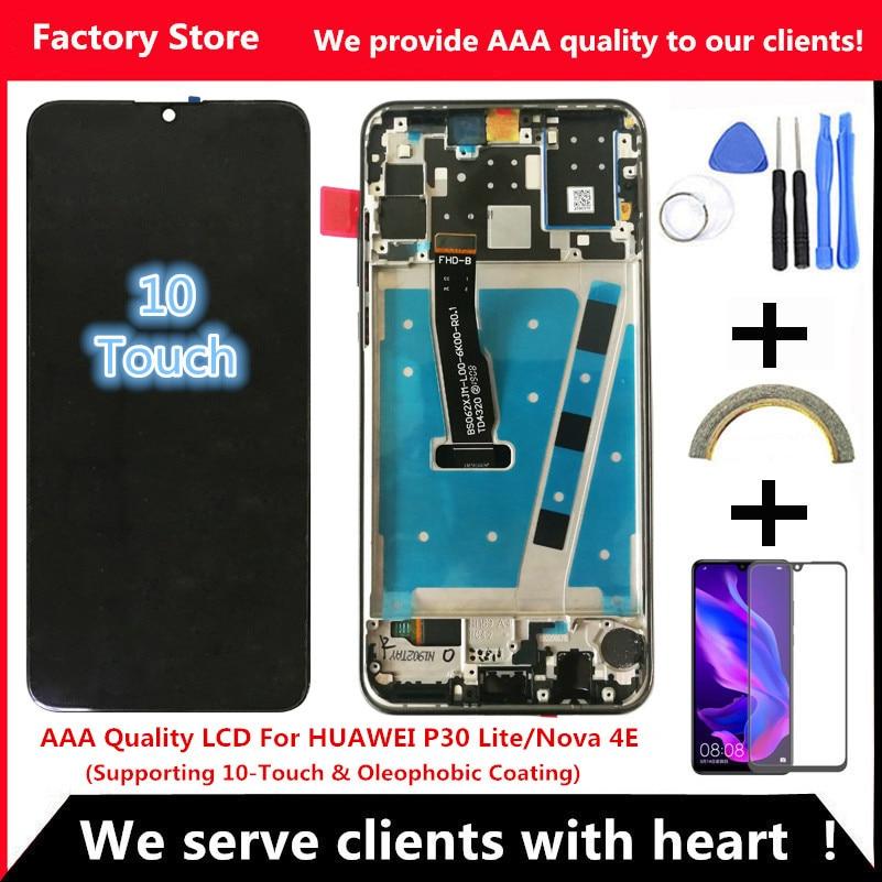 2312*1080 AAA جودة LCD مع الإطار لهواوي P30 لايت Lcd شاشة عرض لهواوي P30 لايت شاشة نوفا 4e MAR-LX1 LX2 AL01