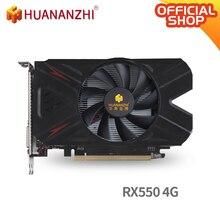 HUANANZHI RX 550 4G graphics card 128Bit GDDR5 4096MB 1183MHz  DVI DP HDMI-Compatible 14Nm 512Units