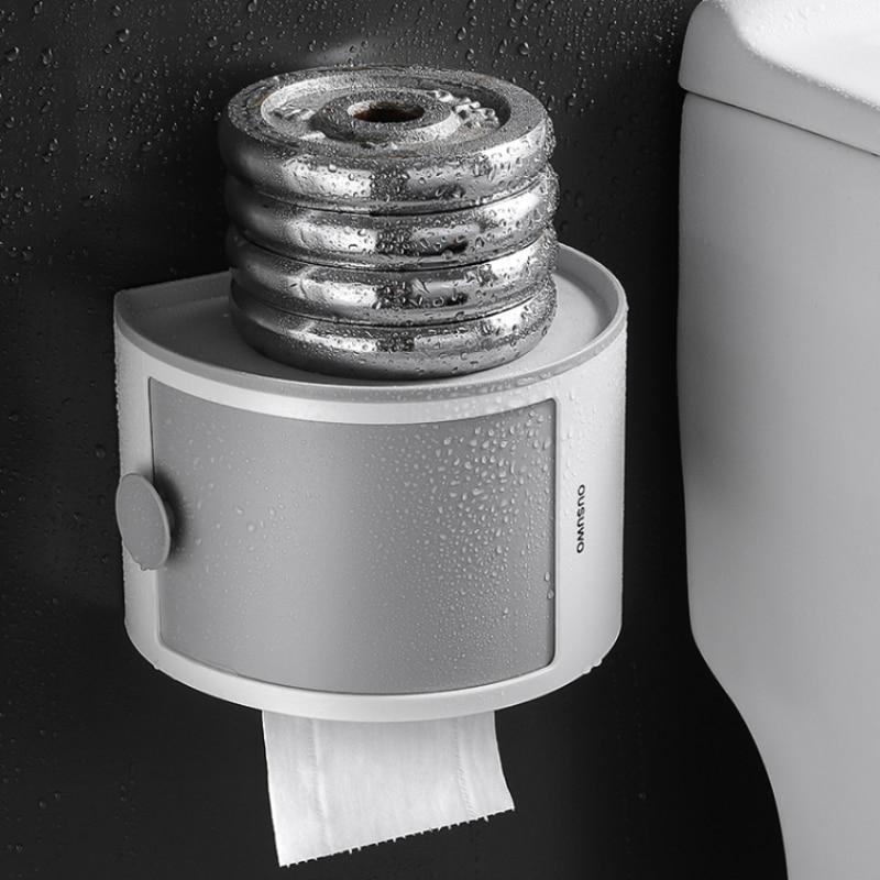 Wall-mounted  Bathroom Tissue Box Storage Rack Cosmetic Tissue Storage Box Organizer Superimposed Household Bathroom Accessories