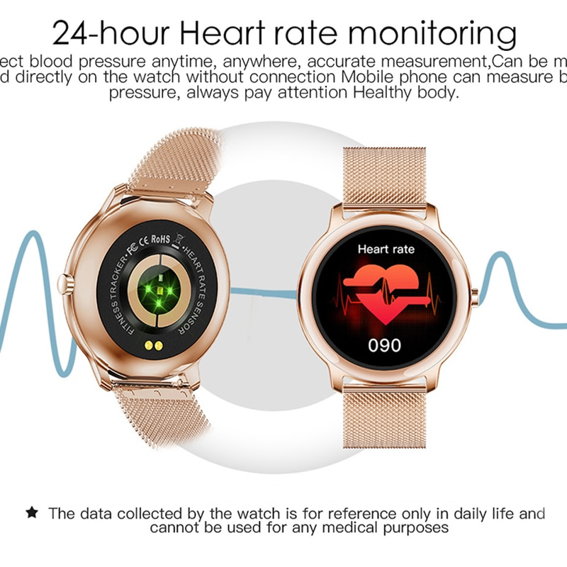 CHYCET 2021 Multi-sport Modes  IP67 Smart Watch Sport Smartwatch Women Heart Rate Monitor Music Control Watches For IOS Android