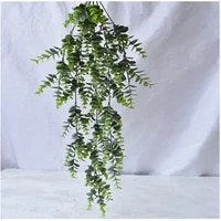 2pcs artificial plants eucalyptus vine garland plant fake hanging 29 5 inch for home indoor outdoor front porch flower decor