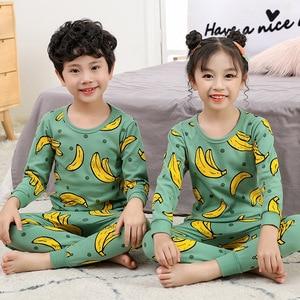 Boys Girls Pajamas Autumn Winter Long sleeve Children's Clothing Sleepwear Cotton Pyjamas Sets For Kids 2 4 6 8 10 12 Years