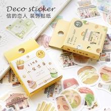 45pcs/pack Happy Camping Mini Paper Sticker Decoration Diy Ablum Diary Scrapbooking Label Sticker Kawaii Stationery